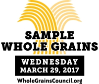 Whole Grain Sampling Day is March 29, 2016