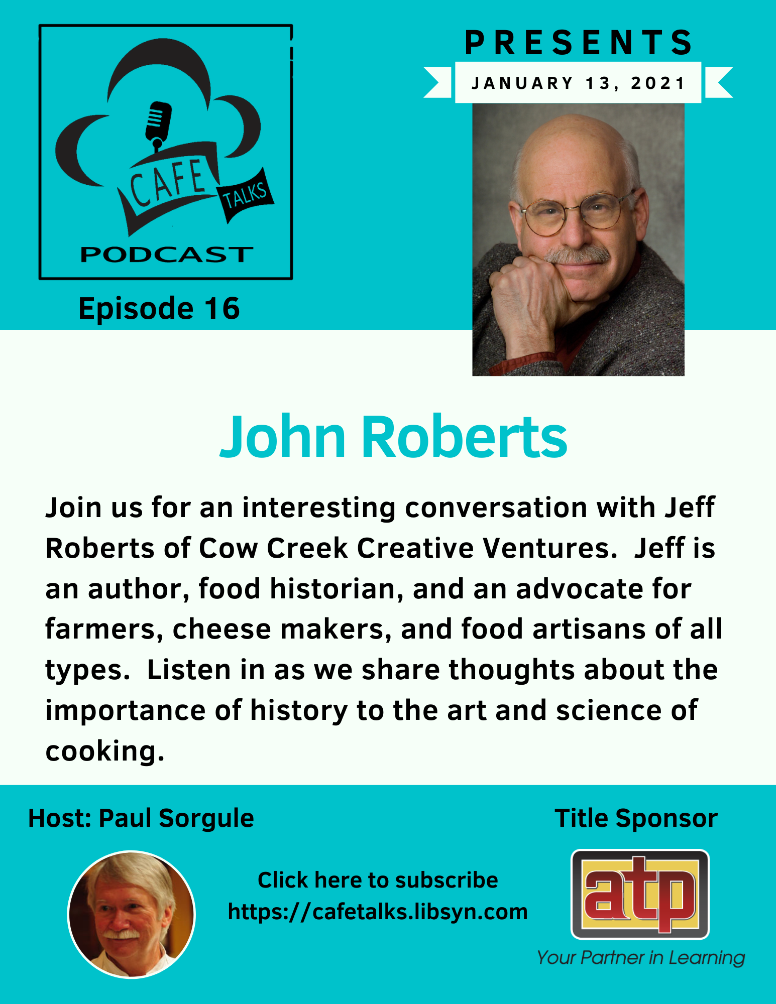 CAFE Talks Podcast 16 John Roberts